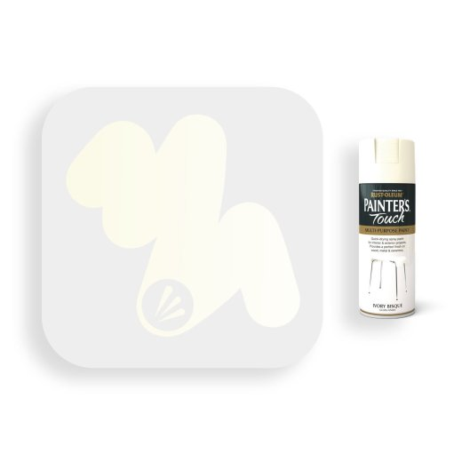 Rust-Oleum-Ivory-Bisque-Gloss-Spray-Paint-400ml-Painters-Touch-Swatch