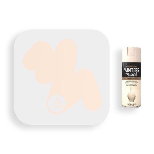 Rust-Oleum-Ivory-Silk-Satin-Spray-Paint-400ml-Painters-Touch-Swatch