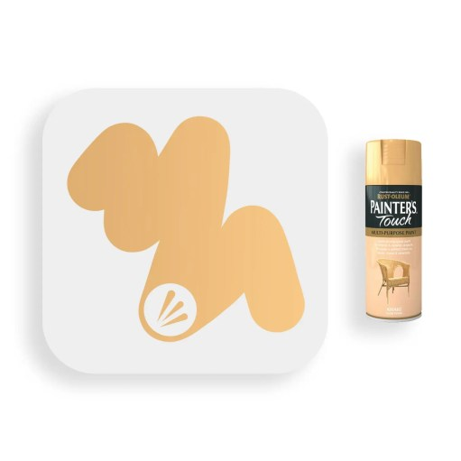 Rust-Oleum-Khaki-Gloss-Spray-Paint-400ml-Painters-Touch-Swatch