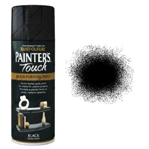 Rust-Oleum Painter's Touch Black Gloss Spray Paint 400ml