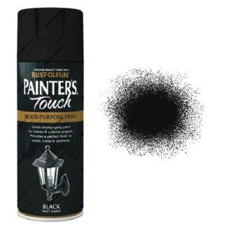Rust-Oleum-Painter's-Touch-Black-Matt-Spray-Paint-400ml-
