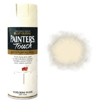 Rust-Oleum Painter's Touch Heirloom White Spray Paint Satin 400ml
