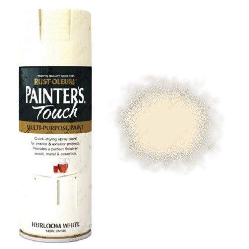 Rust-Oleum Heirloom White Satin Spray Paint 400ml Painter's Touch