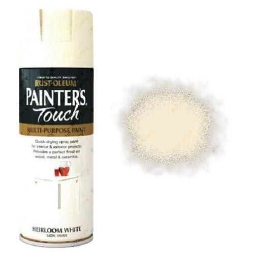 Rust-Oleum Painter's Touch Heirloom White Spray Paint Satin 400ml