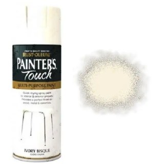 Rust-Oleum Painters Touch Ivory Bisque White Spray Paint Gloss 400ml