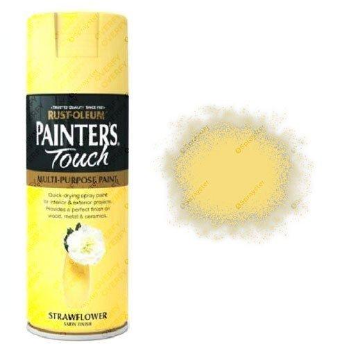 Rust-Oleum Painters Touch Strawflower Yellow Spray Paint Satin 400ml