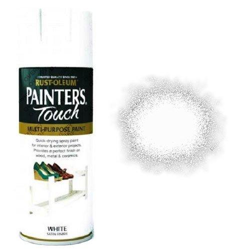Rust-Oleum-Painter's-Touch-White-Satin-Spray-Paint-400ml