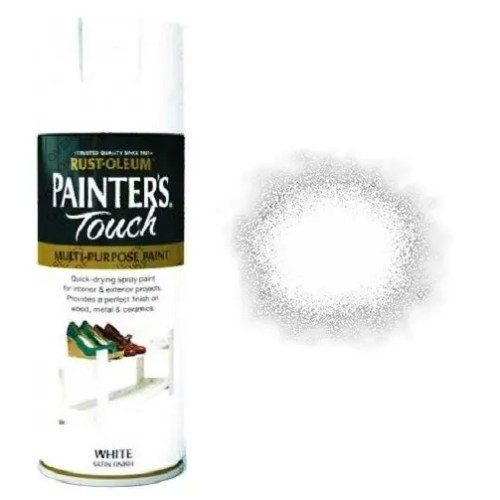 Rust-Oleum-Painter's-Touch-White-Satin-Spray-Paint-400ml