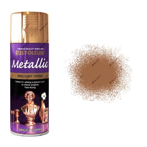 Rust Oleum Metallic Bright Copper Spray Paint 400ml