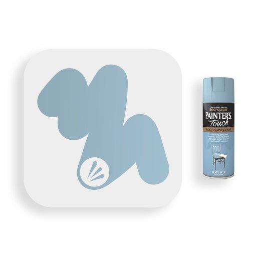 Rust-Oleum-Slate-Blue-Satin-Spray-Paint-400ml-Painters-Touch-Swatch