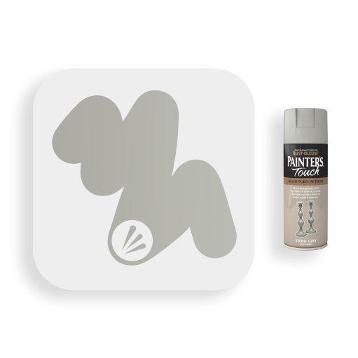 Rust-Oleum-Stone-Grey-Satin-Spray-Paint-400ml-Painters-Touch-Swatch