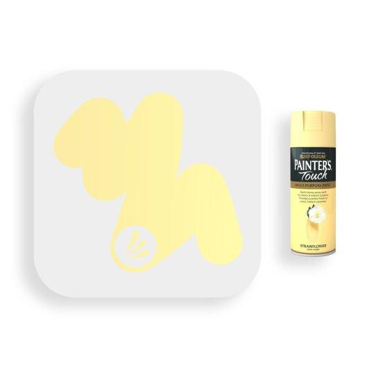 Rust-Oleum-Strawflower-Satin-Spray-Paint-400ml-Painters-Touch-Swatch