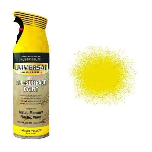 Rust-Oleum Universal Canary Yellow Gloss Spray Paint 400ml