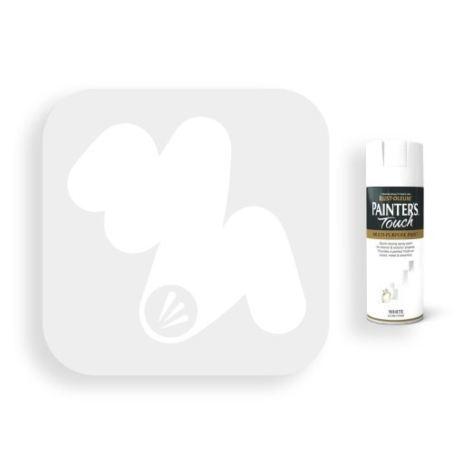 Rust-Oleum-White-Gloss-Spray-Paint-400ml-Painters-Touch-Swatch