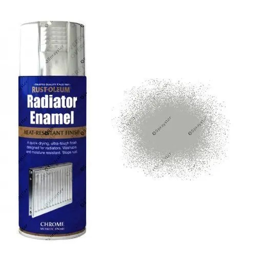Rust-Oleum Metallic Chrome Radiator Enamel Spray Paint 400ml