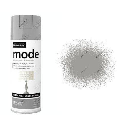 Rust-Oleum Mode Grey Steel Gloss Ultra High 400ml