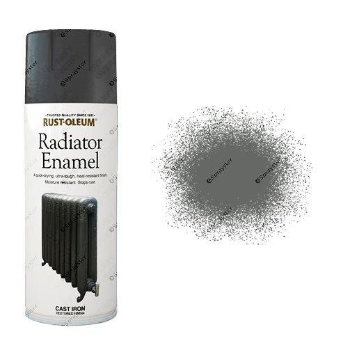Rust-Oleum Cast Iron Grey Radiator Enamel Spray Paint 400ml