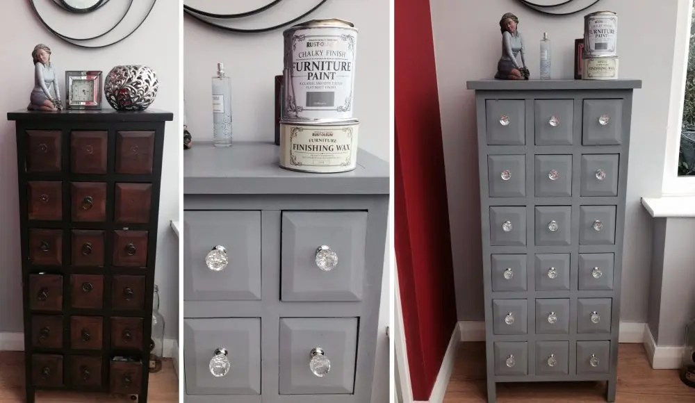 Rust Oleum Anthracite Chalky Paint 125ml Shabby Chic