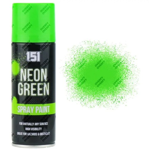 151 Fluorescent Neon Green Spray Paint 200ml