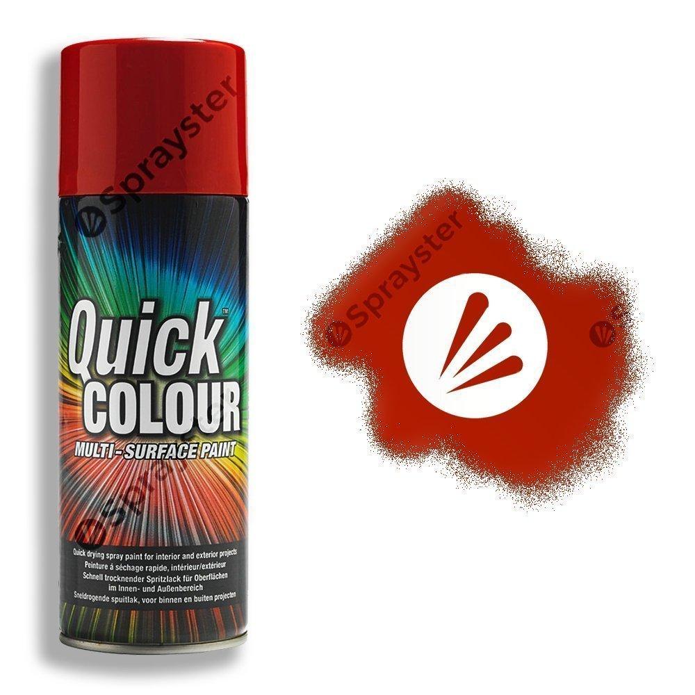 Rust Oleum Quick Colour Cherry Red Gloss Spray Paint 400ml