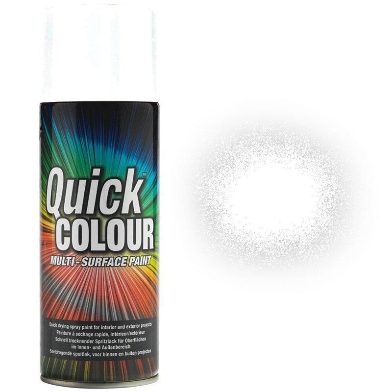 Rust-Oleum Quick Colour White Gloss Spray Paint 400ml