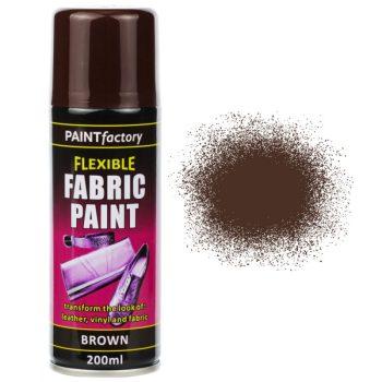 Brown Fabric Spray Paint 200ml Flexible Clothes Aerosol
