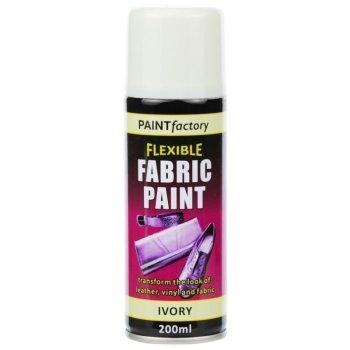 Ivory Fabric Spray Paint 200ml Flexible Clothes Aerosol