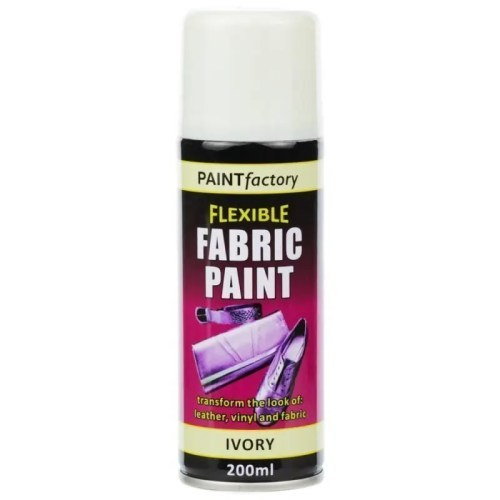 Ivory Fabric Spray Paint 200ml Flexible Clothes Aerosol