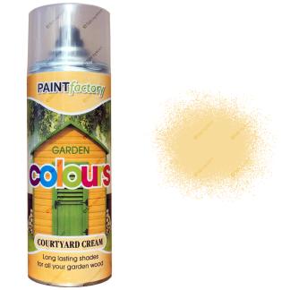x1-Courtyard-Cream-Garden-Aerosol-Spray-Paint-Lasting-Shades-For-Wood-400ml-371994758868