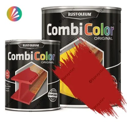 Direct-To-Metal-Paint-Rust-Oleum-CombiColor-Original-Satin-750ml-Sprayster-Bright-Red
