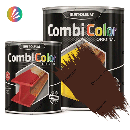 Direct-To-Metal-Paint-Rust-Oleum-CombiColor-Original-Satin-750ml-Sprayster-Chestnut-Brown