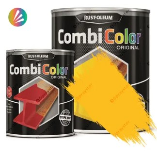 Direct-To-Metal-Paint-Rust-Oleum-CombiColor-Original-Satin-750ml-Sprayster-Coleseed-Yellow