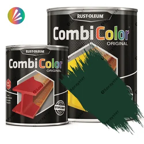 Direct-To-Metal-Paint-Rust-Oleum-CombiColor-Original-Satin-750ml-Sprayster-Green