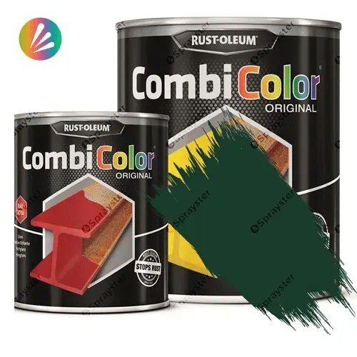 Direct-To-Metal-Paint-Rust-Oleum-CombiColor-Original-Satin-750ml-Sprayster-Green