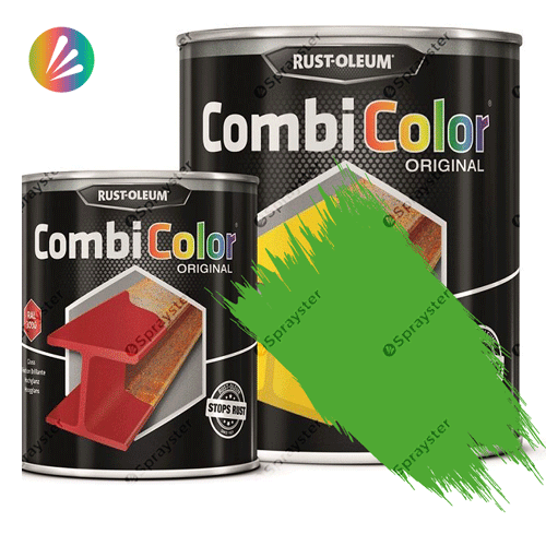 Direct-To-Metal-Paint-Rust-Oleum-CombiColor-Original-Satin-750ml-Sprayster-Light-Green