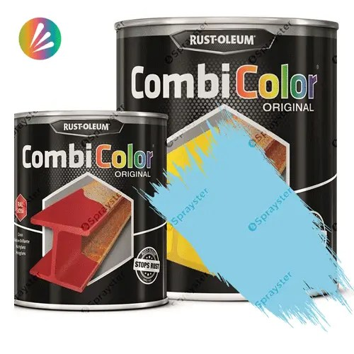Direct-To-Metal-Paint-Rust-Oleum-CombiColor-Original-Satin-750ml-Sprayster-Marlin-Blue