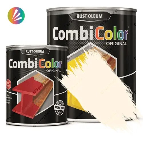 Direct-To-Metal-Paint-Rust-Oleum-CombiColor-Original-Satin-750ml-Sprayster-Oyster-White