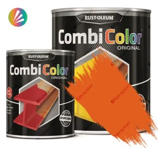 Direct-To-Metal-Paint-Rust-Oleum-CombiColor-Original-Satin-750ml-Sprayster-Yellow-Orange