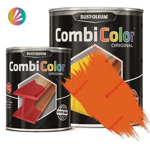 Direct-To-Metal-Paint-Rust-Oleum-CombiColor-Original-Satin-750ml-Sprayster-Yellow-Orange
