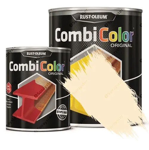 Direct-To-Metal-Paint-Rust-Oleum-CombiColor-Original-Satin-Sprayster-Clear-Ivory