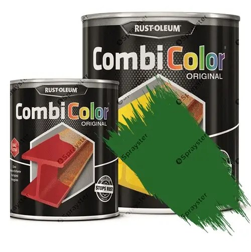 Direct-To-Metal-Paint-Rust-Oleum-CombiColor-Original-Satin-Sprayster-Emerald-Green