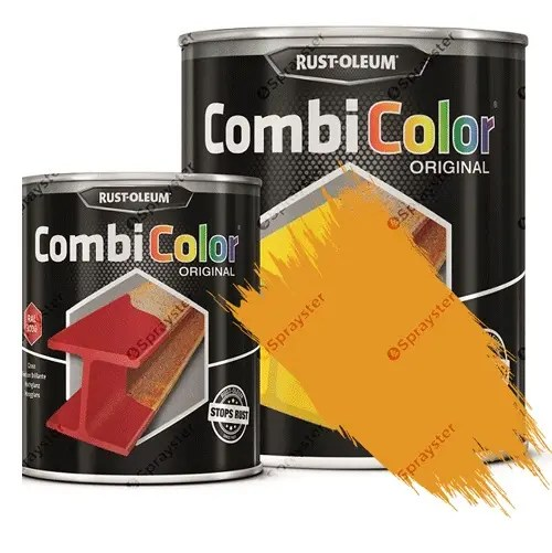 Direct-To-Metal-Paint-Rust-Oleum-CombiColor-Original-Satin-Sprayster-Golden-Yellow