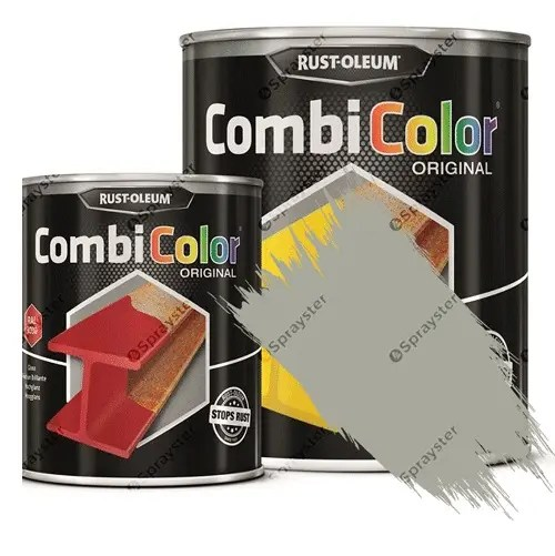 Direct-To-Metal-Paint-Rust-Oleum-CombiColor-Original-Satin-Sprayster-Light-Grey
