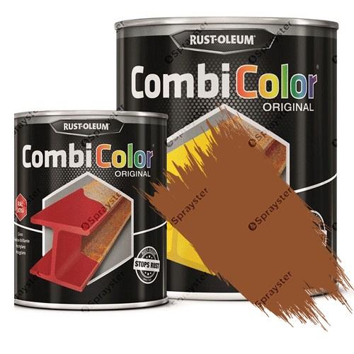Direct-To-Metal-Paint-Rust-Oleum-CombiColor-Original-Satin-Sprayster-Ochre-Brown