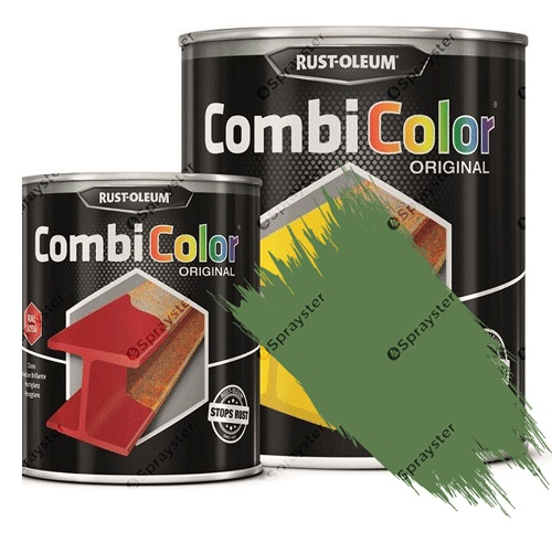 Direct-To-Metal-Paint-Rust-Oleum-CombiColor-Original-Satin-Sprayster-Reseda-Green