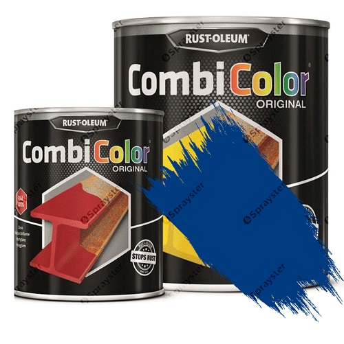 Direct-To-Metal-Paint-Rust-Oleum-CombiColor-Original-Satin-Sprayster-Traffic-Blue