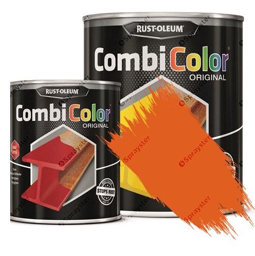 Direct-To-Metal-Paint-Rust-Oleum-CombiColor-Original-Satin-Sprayster-Yellow-Orange