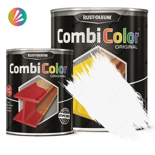 Direct-To-Metal-White-Paint-Rust-Oleum-CombiColor-Original-Satin-750ml-391856076536-Sprayster-White-b