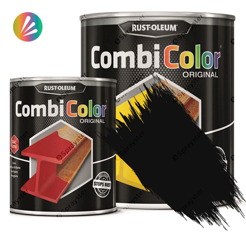 Direct-To-Metal-White-Paint-Rust-Oleum-CombiColor-Original-Satin-750ml-391856076536-sprayster-black-b