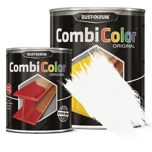 Direct-To-Metal-White-Paint-Rust-Oleum-CombiColor-Original-Satin-Sprayster-White